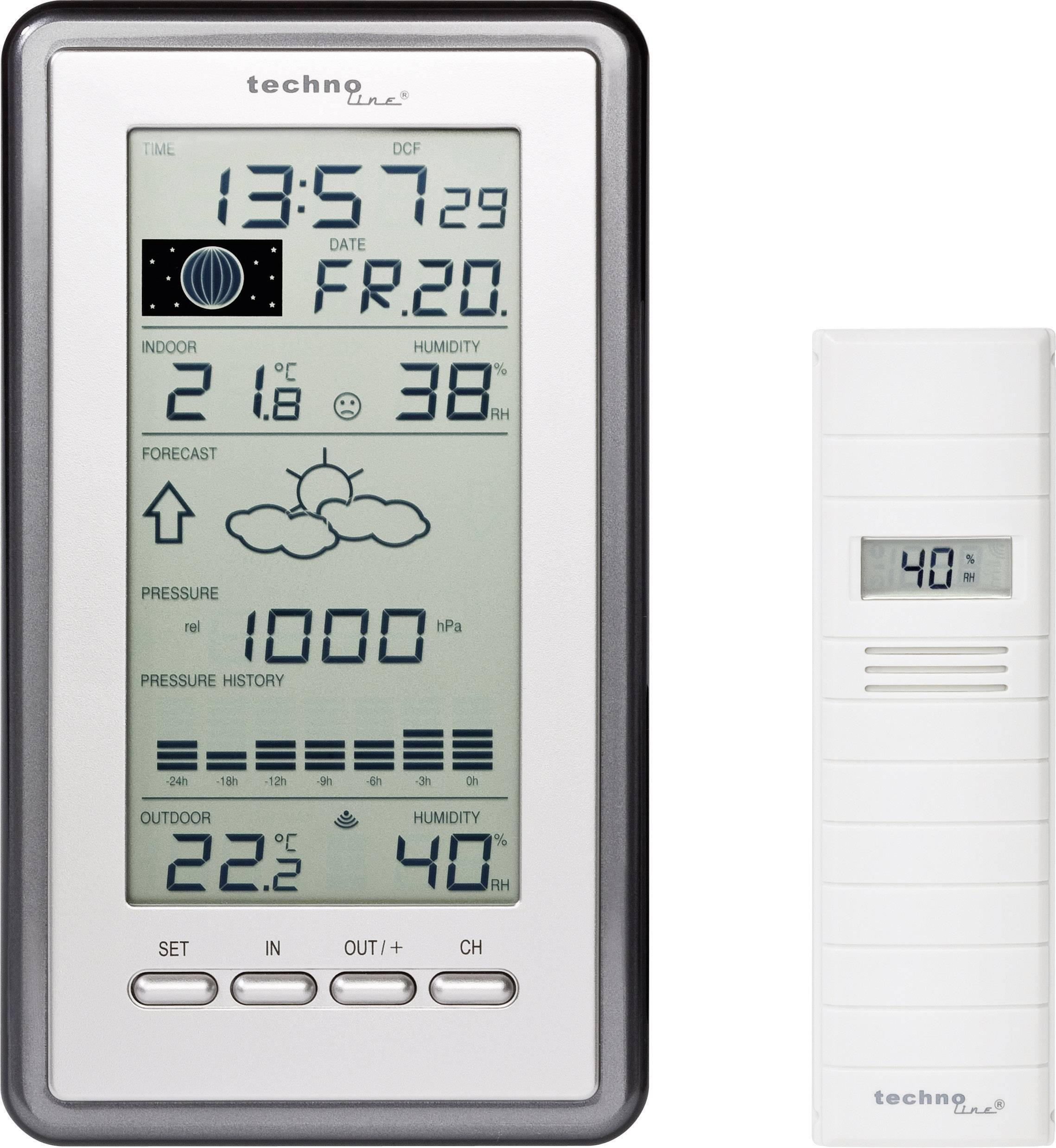 Digitálna bezdrôtová meteostanica Techno Line WS 9040 IT WS 9040 IT max. dosah 100 m