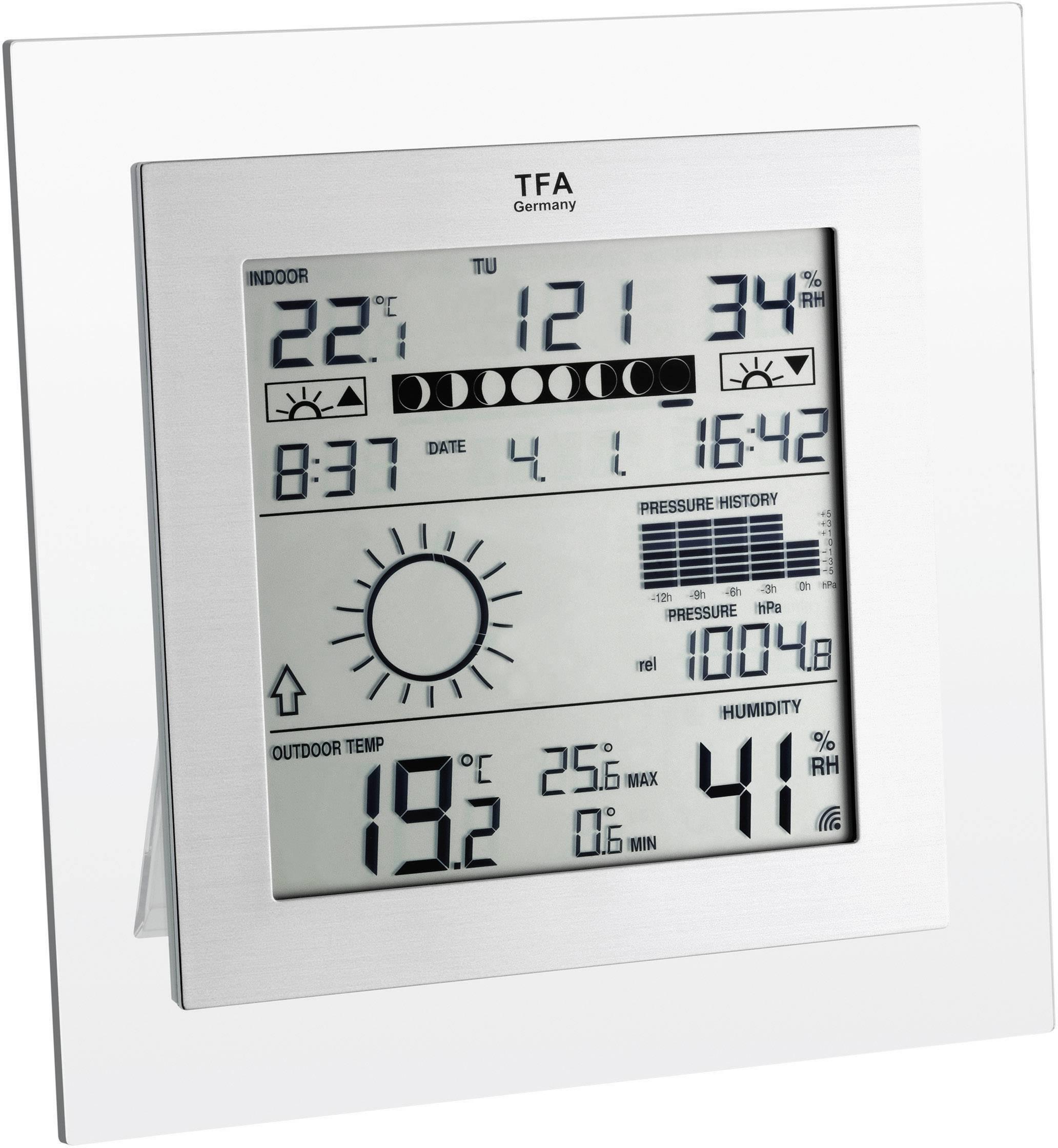 Digitální bezdrátová meteostanice TFA Square Plus 35.1121.IT, Max. dosah 100 m