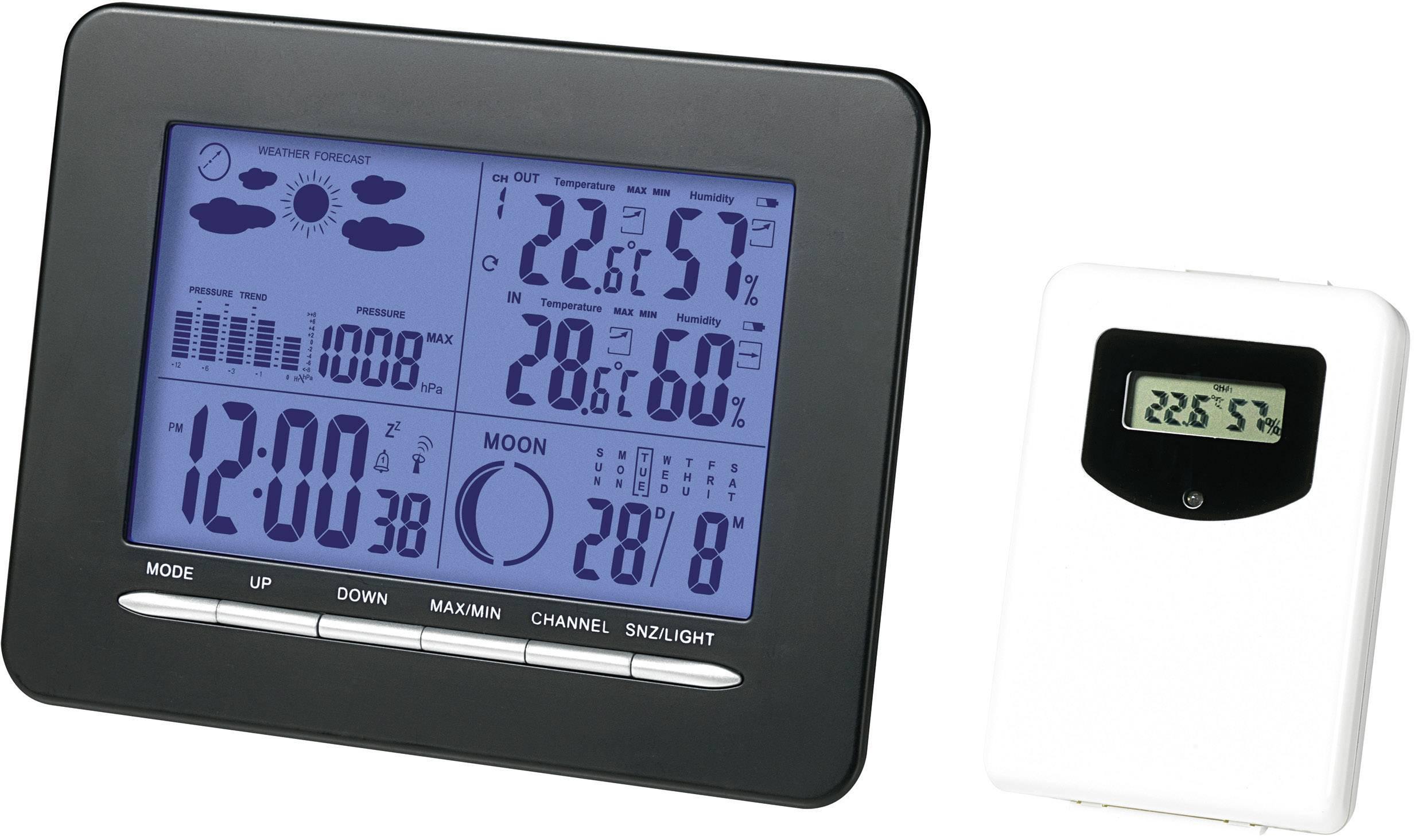 Digitálna bezdrôtová meteostanica S3318P S3318P, max. dosah 30 m, čierna