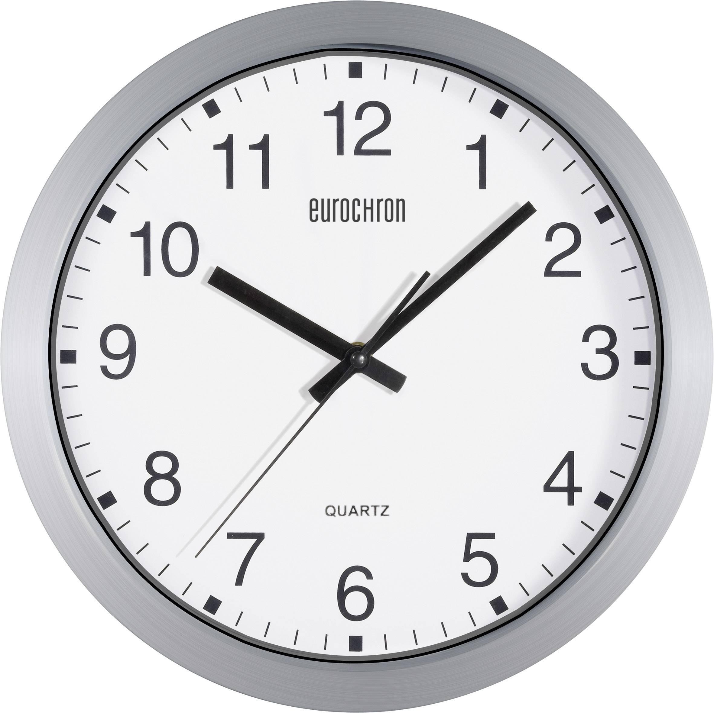Analogové nástěnné hodiny Eurochron EQWU 880, 30 cm, stříbrná