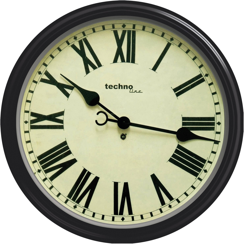 Analógové nástenné retro hodiny Techno Line WT 7050, 50 cm, hnedé