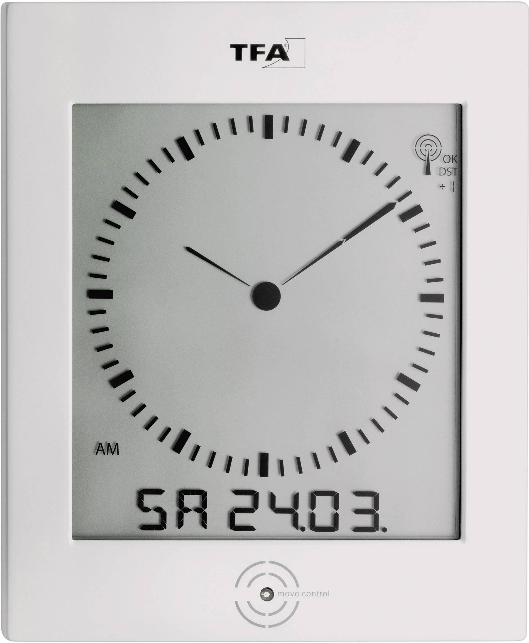 Nástenné DCF hodiny s LCD a teplomerom/vlhkomerom TFA