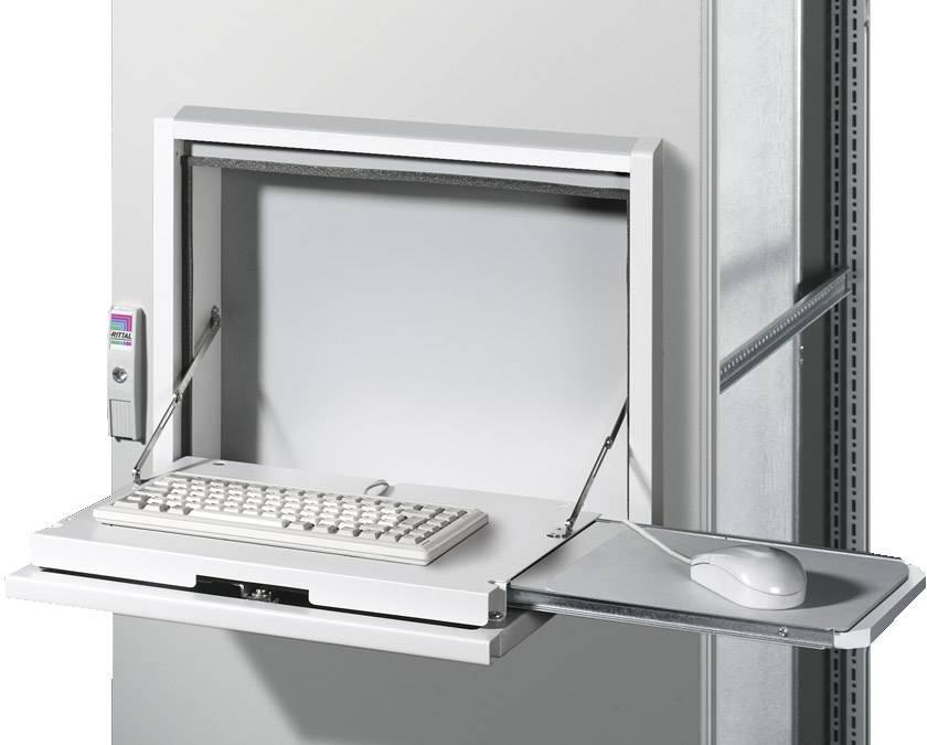 Skladací stôl Rittal SZ 2379.800, 126 mm, oceľový plech, svetlo sivá (RAL 7035), 1 ks