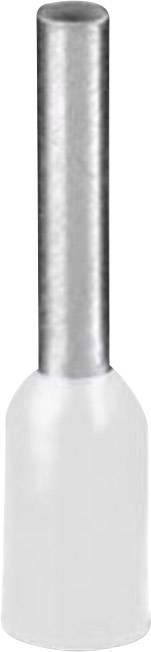 Dutinka Phoenix Contact 1208966, 0.50 mm², 8 mm, čiastočne izolované, biela, 500 ks