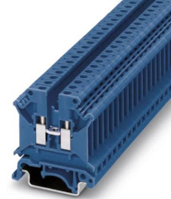 Průchozí svorka řadová Phoenix Contact UK 5 N BU (3004388), šroubovací, 6,2 mm, modrá