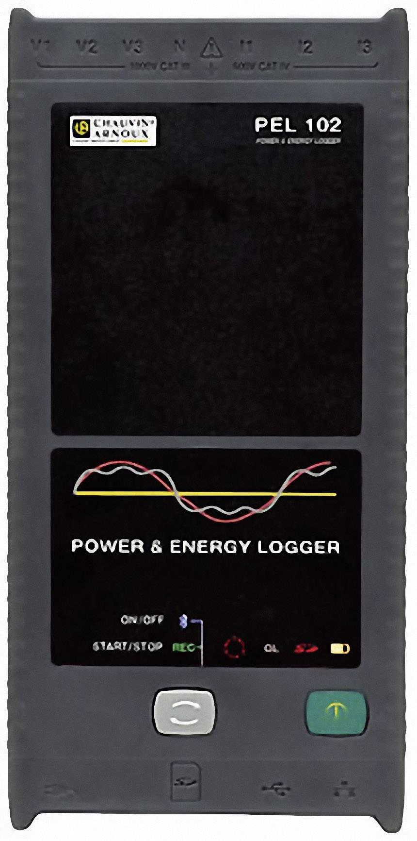 Síťový analyzátor Chauvin Arnoux PEL 102 + klešťový adaptér miniflex