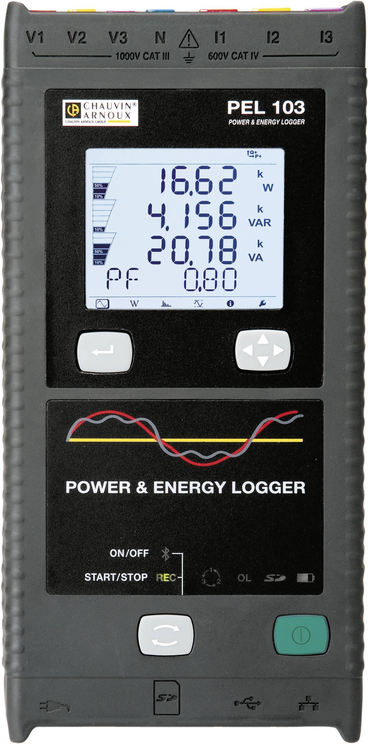 Sieťový analyzátor Chauvin Arnoux PEL 103 + kliešťový adaptér miniflex