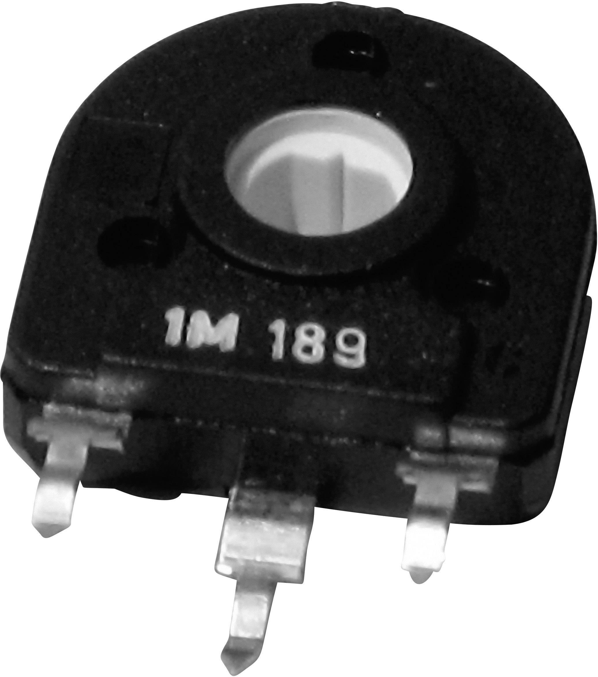 Uhlíkový trimer TT Electronics AB 1551080, lineárny, 1 MOhm, 0.25 W, 1 ks