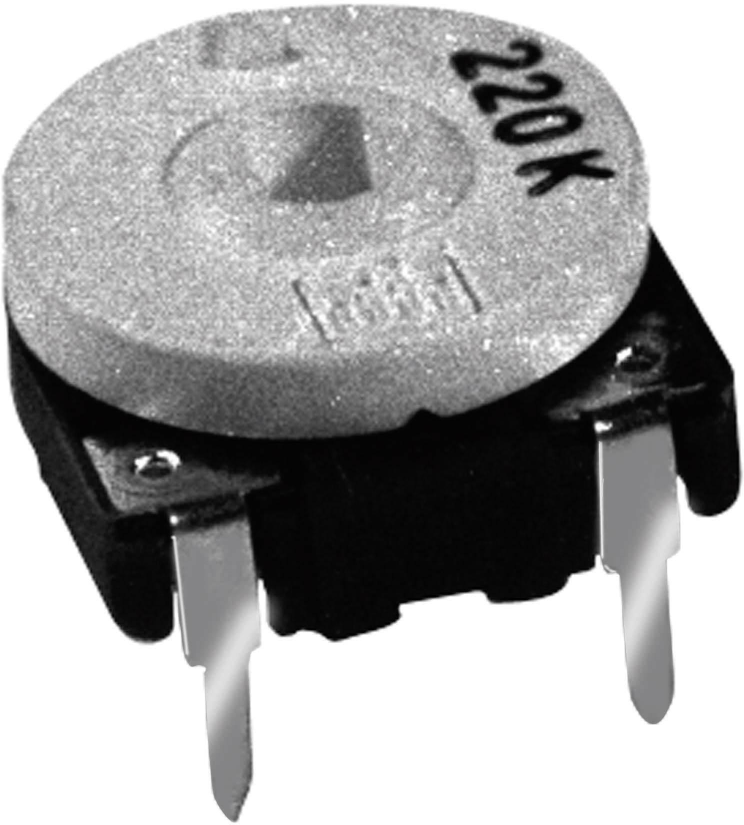 Uhlíkový trimer TT Electronics AB 21544805, lineárny, 1 MOhm, 0.15 W, 1 ks