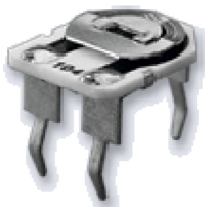Cermetový trimer AB Elektronik 2002100555, lineárny, 220 Ohm, 0.5 W, 1 ks