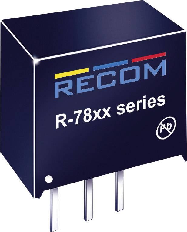 DC / DC menič napätia, DPS RECOM R-7812-0.5, 12 V/DC, 0.5 A, 6 W