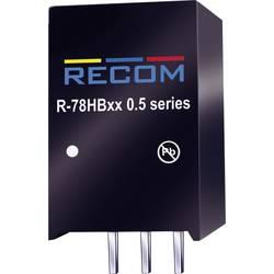 DC/DC měnič Recom R-78HB12-0.5, výstup 12 V/DC / 0,5 A, vstup 17 - 72 V/DC, SIP 3