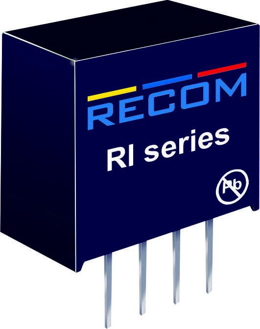 DC/DC měnič Recom RI-1205, vstup 12 V/DC, výstup 5 V/DC, 400 mA, 2 W