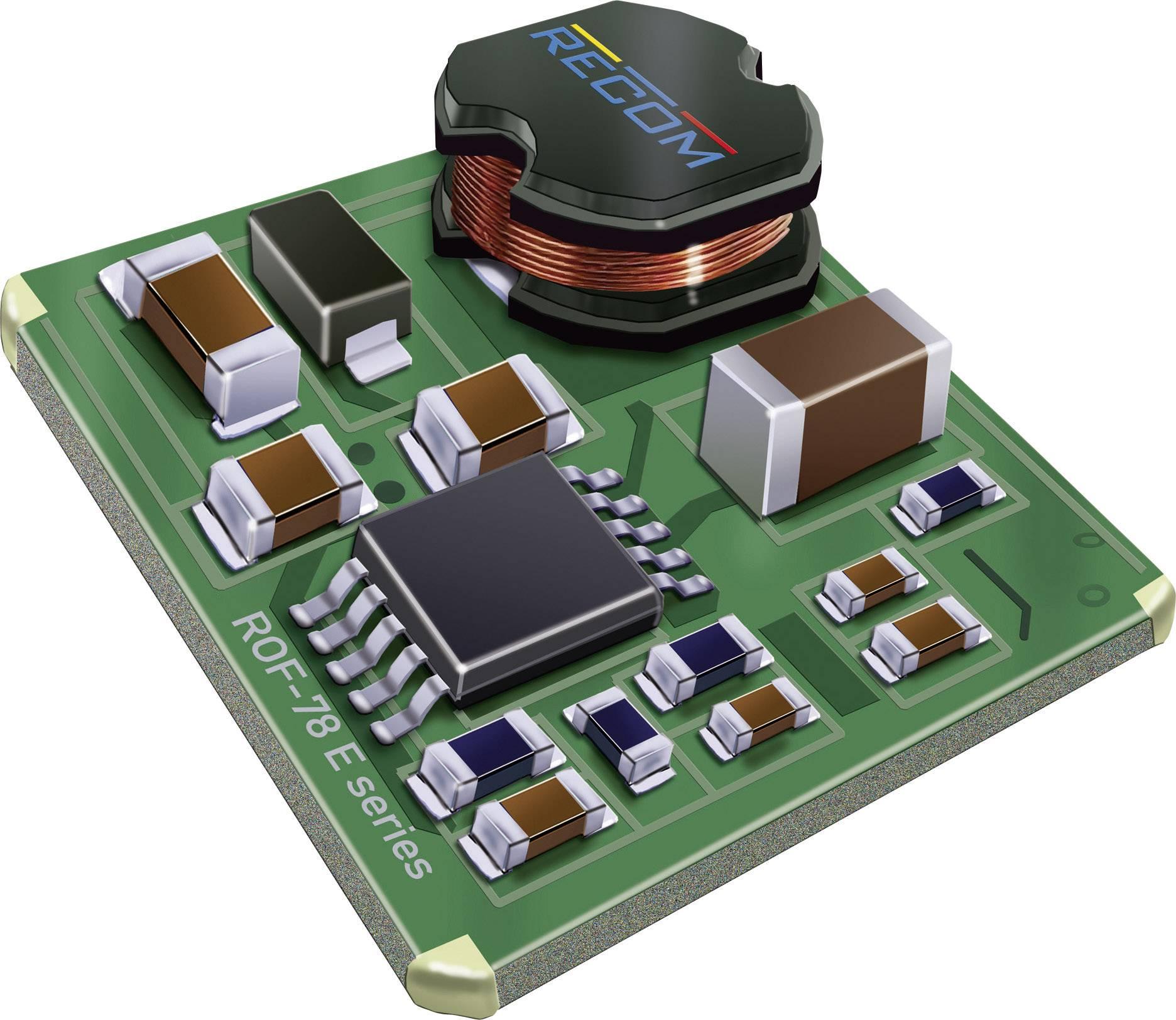 Modul DC / DC meniča napätia RECOM ROF-78E5.0-0.5SMD-R, 12 V/DC, 24 V/DC, 5 V/DC, 500 mA, 2.5 W
