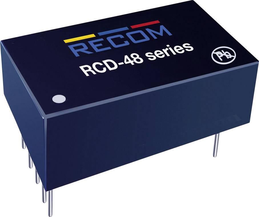 LED ovládač Recom Lighting RCD-48-1.00/W, 1000 mA, 56 V/DC, provozní napětí (max.) 60 V/DC