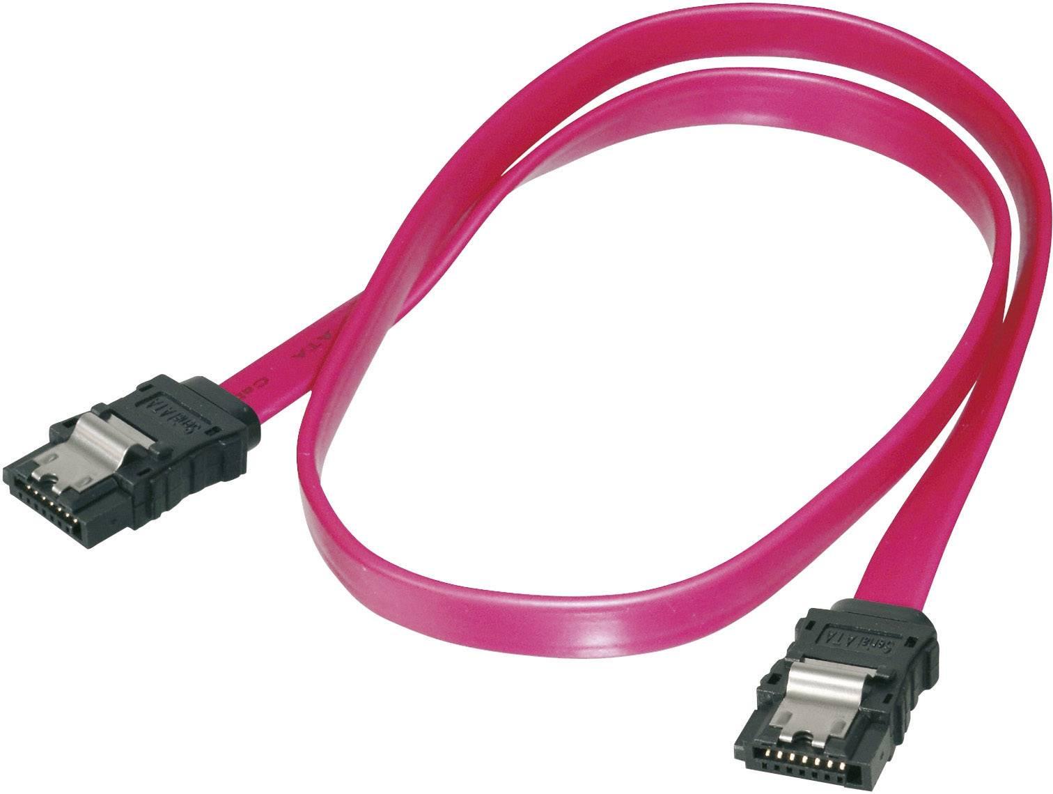 SATA III prepojovací kábel Digitus AK-400102-008-R, červená