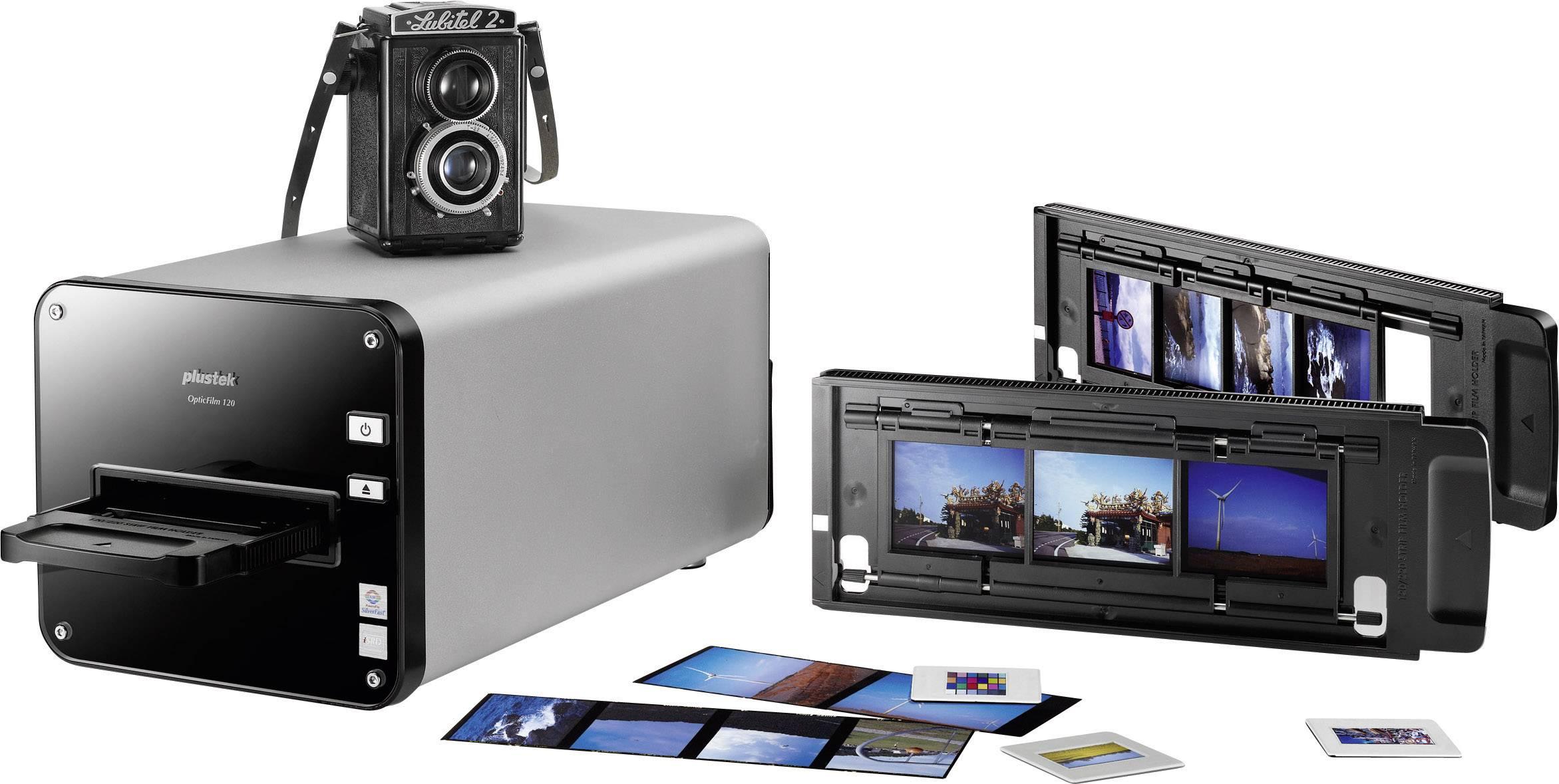 Skener diapozitívov, skener negatívov na filmy stredného formátu, Plustek OpticFilm 120