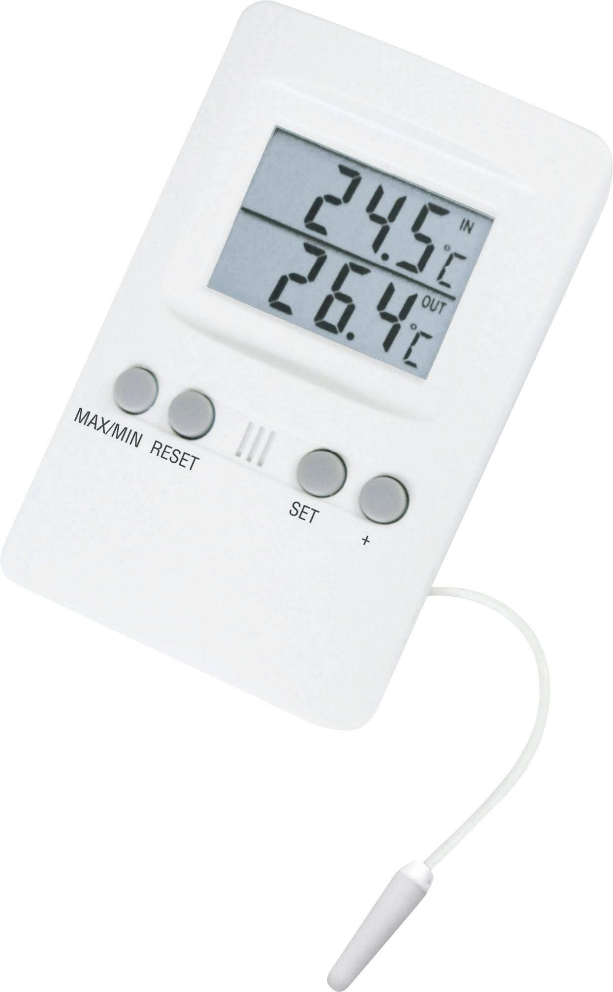 Teplomer vnútorný/vonkajší s alarmom