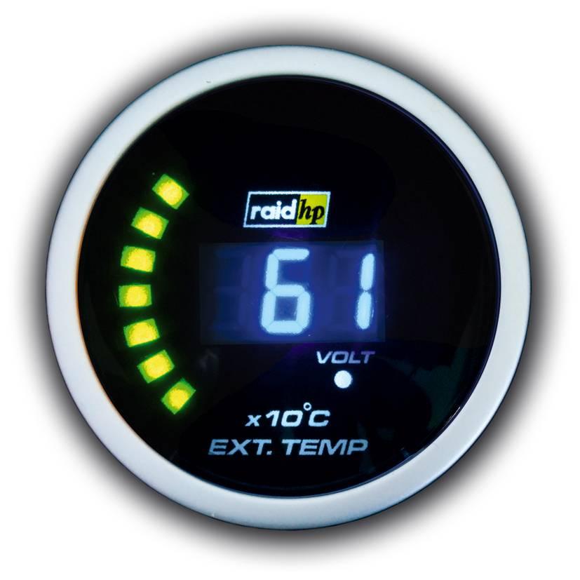 Palubný prístroj na meranie teploty výfukových plynov Raid Hp NightFlight, 660 507