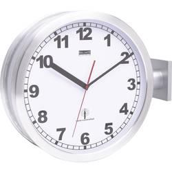 Železničné DCF hodiny Ø 38 cm, hliník