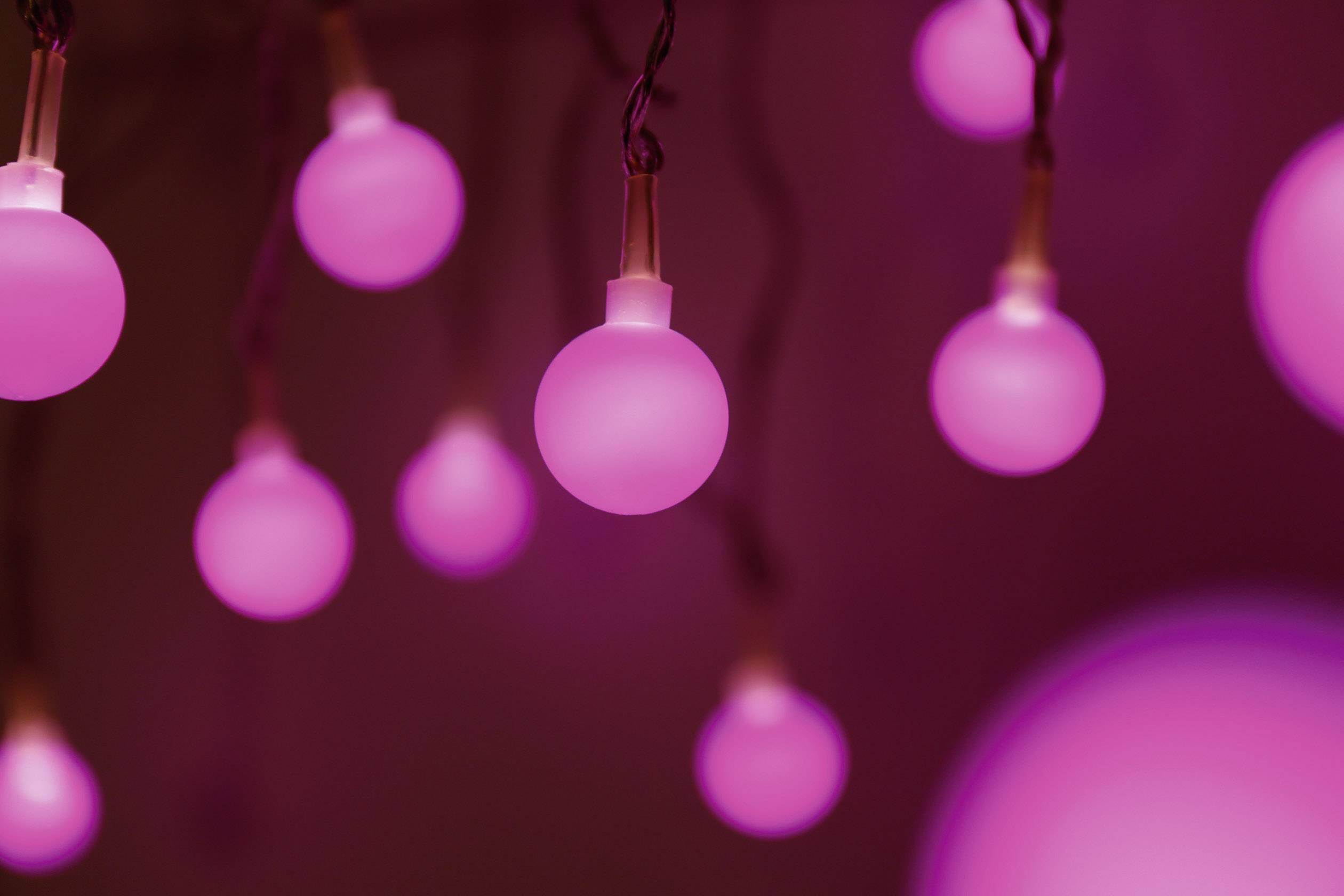 Vnútorná vianočná reťaz Polarlite, 20 LED, fialová