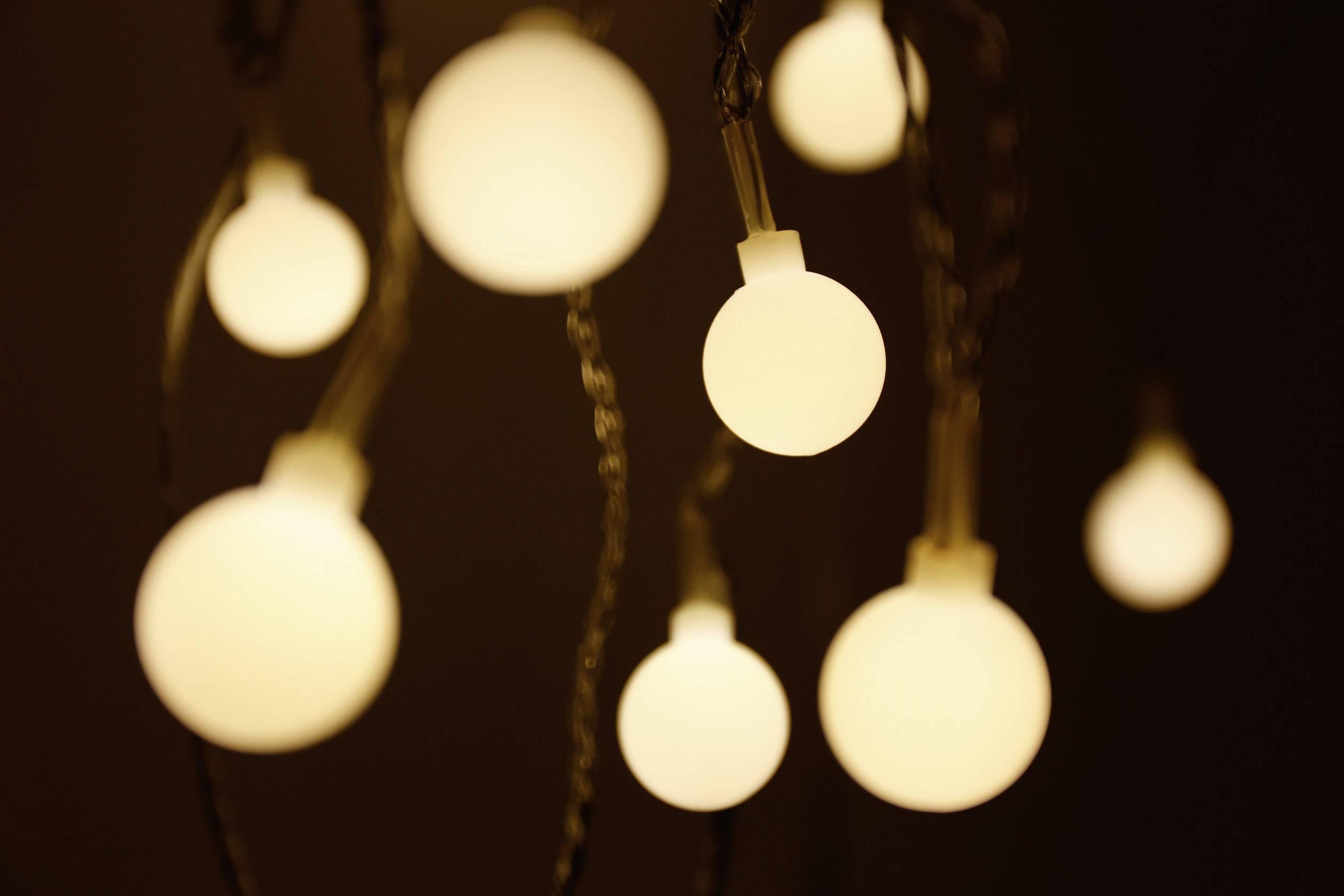 Vnútorná vianočná reťaz Polarlite, 20 LED Amber