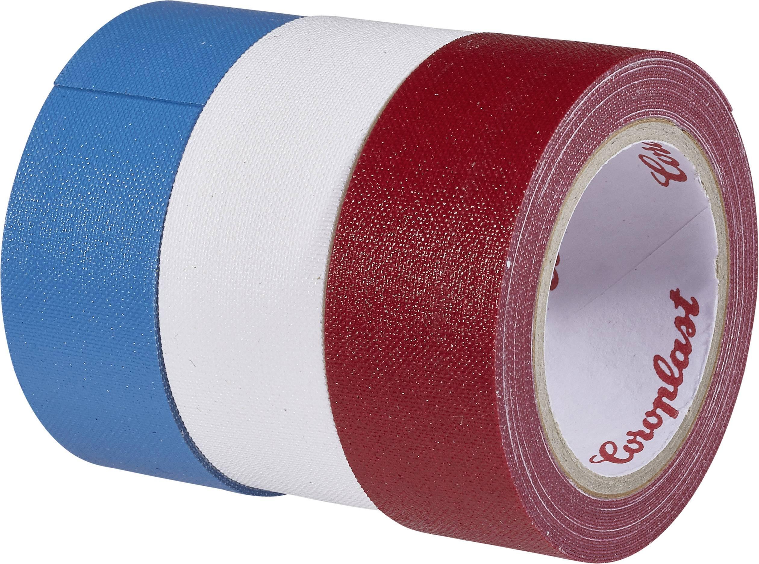 Páska so skleným vláknom Coroplast 31081 31081, (d x š) 2.5 m x 19 mm, modrá, červená, biela, 3 roliek