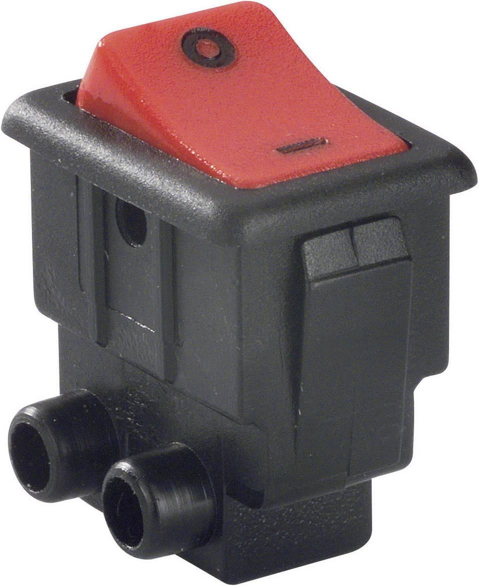 Kolébkový spínač se šroubovým připojením, 8004-005,81, 250 V/AC, 10 A, s aretací