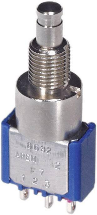 Tlačidlo APEM 8632A, 250 V/AC, 3 A, kov, 1 ks