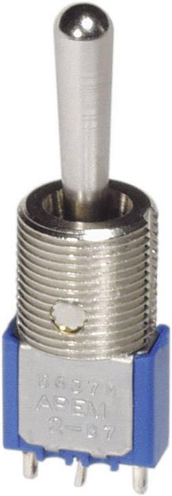 Páčkový spínač s pájecími očkya závitovou zdířkou 11,9 mm