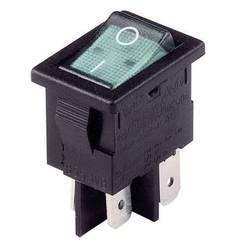 Kolískový spínač s aretáciou Arcolectric H 8553 VB NAM, 230 V/AC, 10 A, 2x vyp/zap, Farba svetla: červená, 1 ks