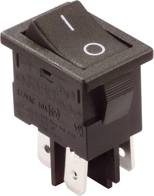 Kolébkový spínač Arcolectric H8550VBACA, 2x vyp/zap, 250 V/AC, 10 A, černá