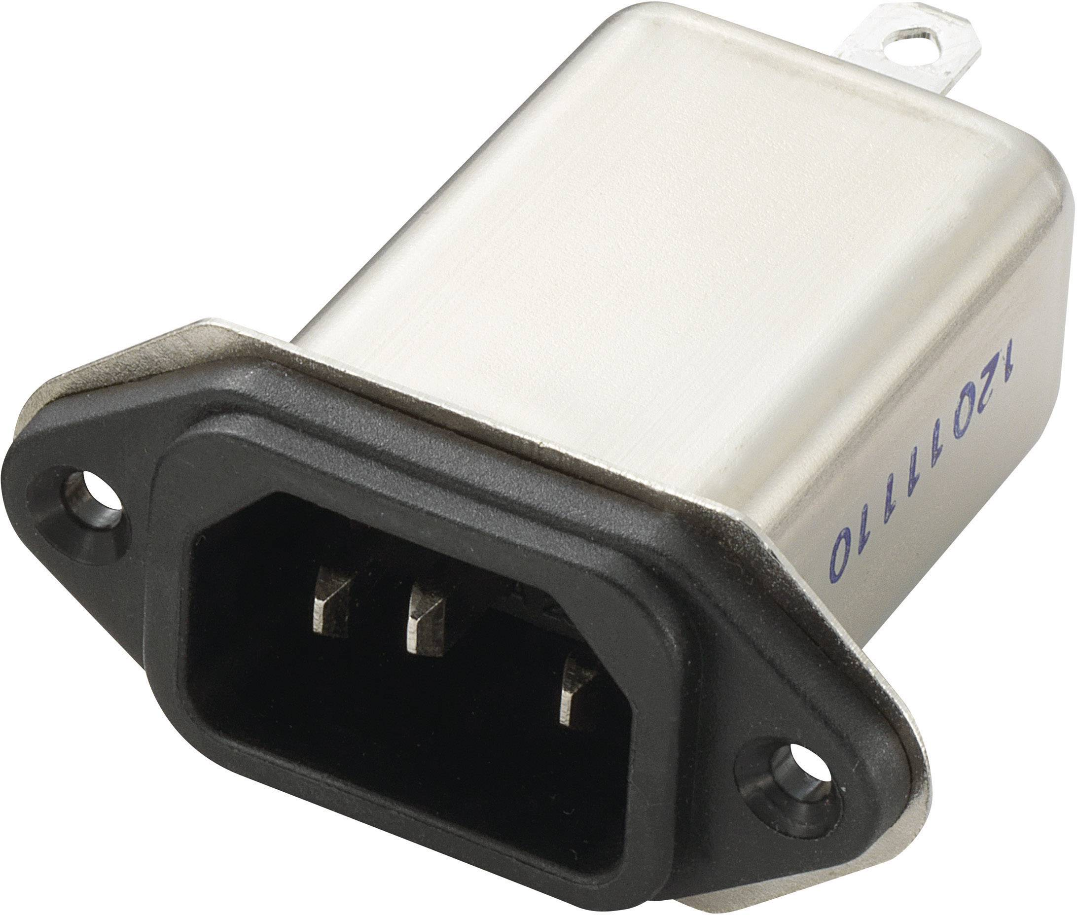 Sieťový filter Yunpen YB10A1-B 700174, s IEC zásuvkou, 250 V/AC, 10 A, 0.3 mH, (d x š x v) 58 x 52.3 x 25.25 mm, 1 ks