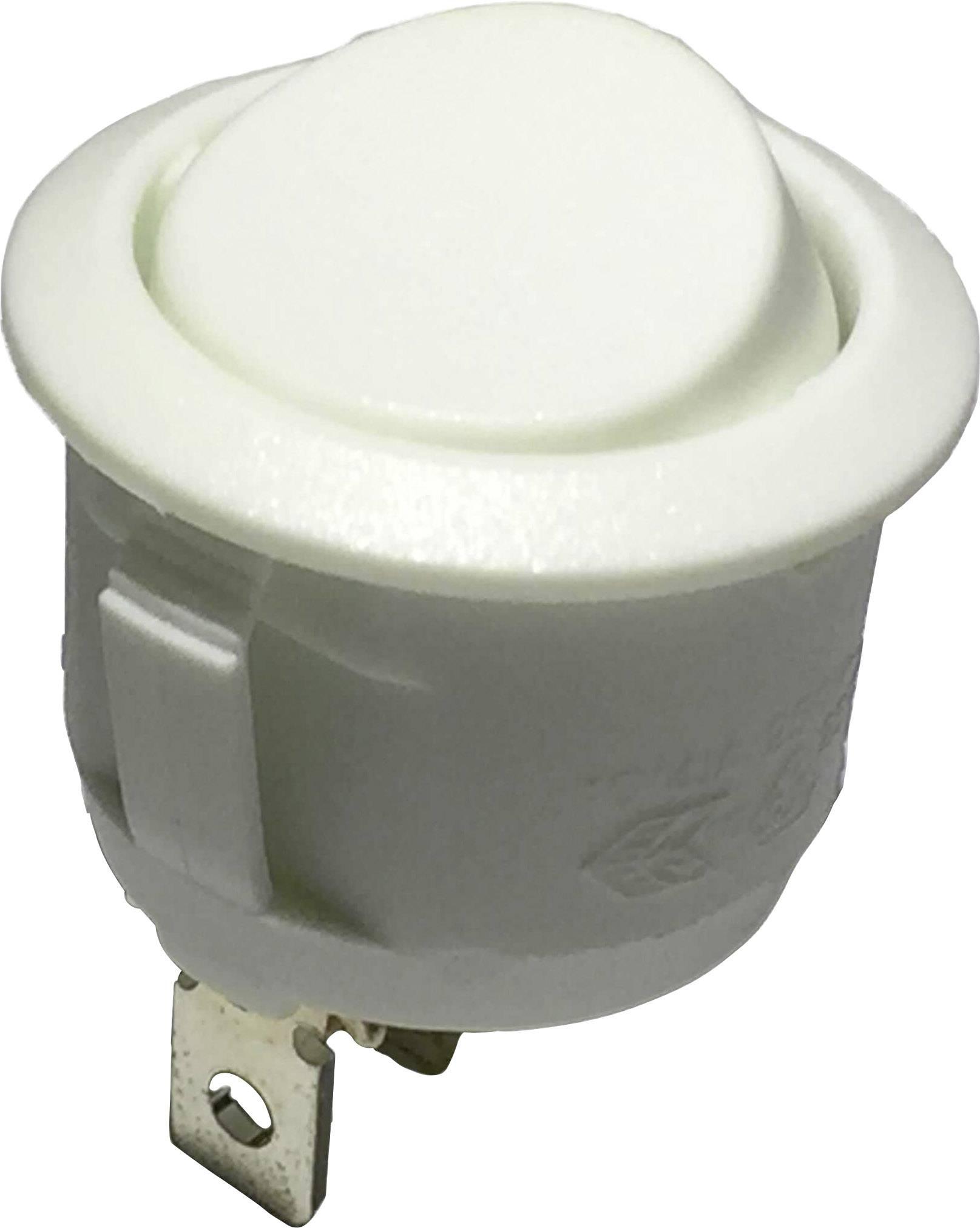 Kolískový spínač s aretáciou R13-112C W/W, 250 V/AC, 6 A