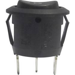Kolébkový spínač s aretací/0/s aretací TRU COMPONENTS R13-112D B/B PR.I-O-II, 250 V/AC, 6 A, 1x zap/vyp/zap, 1 ks