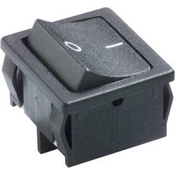 Kolébkový spínač Marquardt série 1800, 250 V/AC, 6 A, s aretací, černá