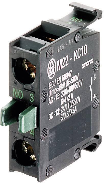 Spínacie kontaktné teleso Eaton M22-KC01, 1 rozpínací, bez aretácie, 500 V/AC, 1 ks