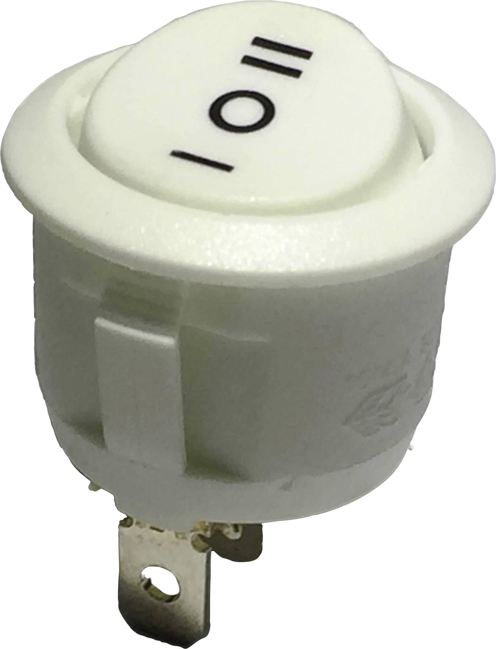 Kolískový spínač s aretáciou/0/s aretáciou TRU COMPONENTS R13-112D W/W PR.I-O-II, 250 V/AC, 6 A, 1x zap/vyp/zap, 1 ks
