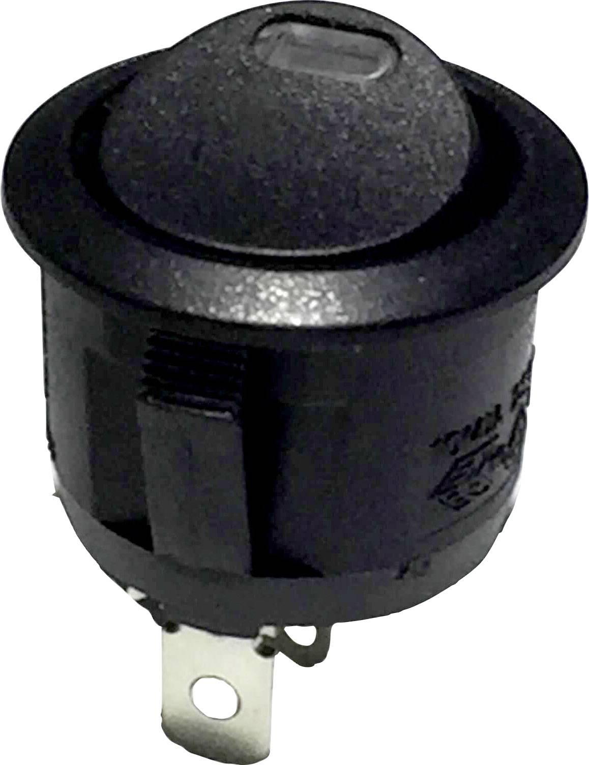 Kolískový spínač s aretáciou TRU COMPONENTS R13-112L B/B RED 3V, 250 V/AC, 6 A, 1x vyp/zap, Farba svetla: červená, 1 ks