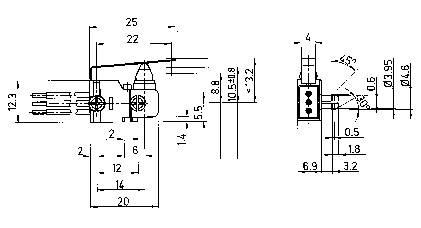 Mikrospínač Marquardt 1022.2201, 24 V/DC, 2 A, IP67
