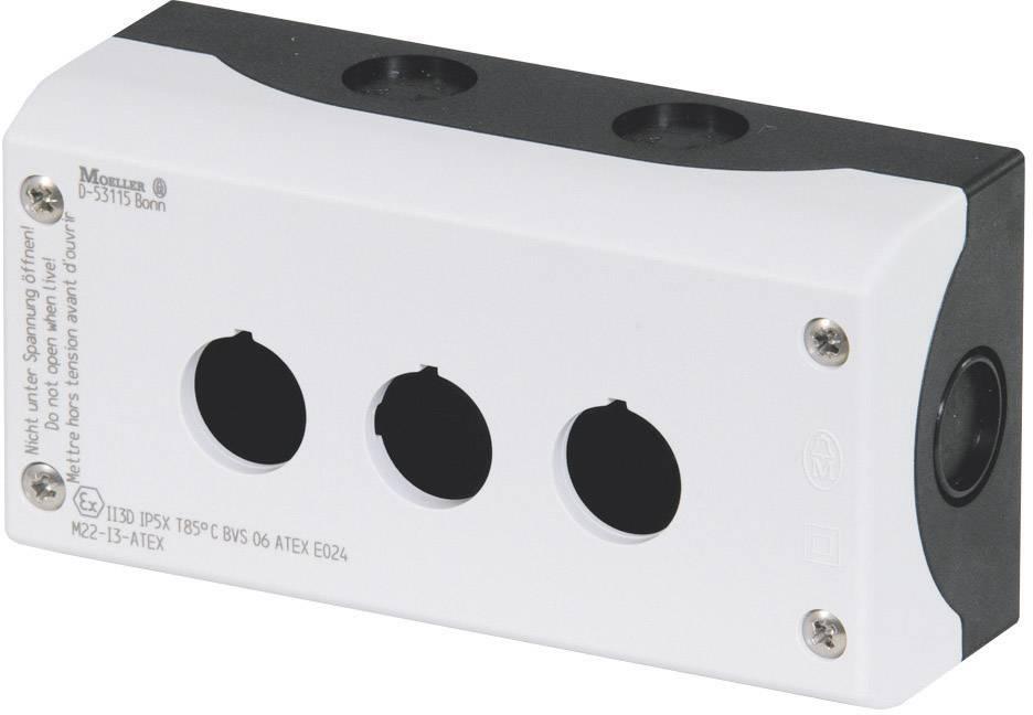Prázdne puzdro 3 inštalačné pozície, (d x š x v) 80 x 153 x 56 mm Eaton M22-I3 216538, sivá (RAL 7035), 1 ks