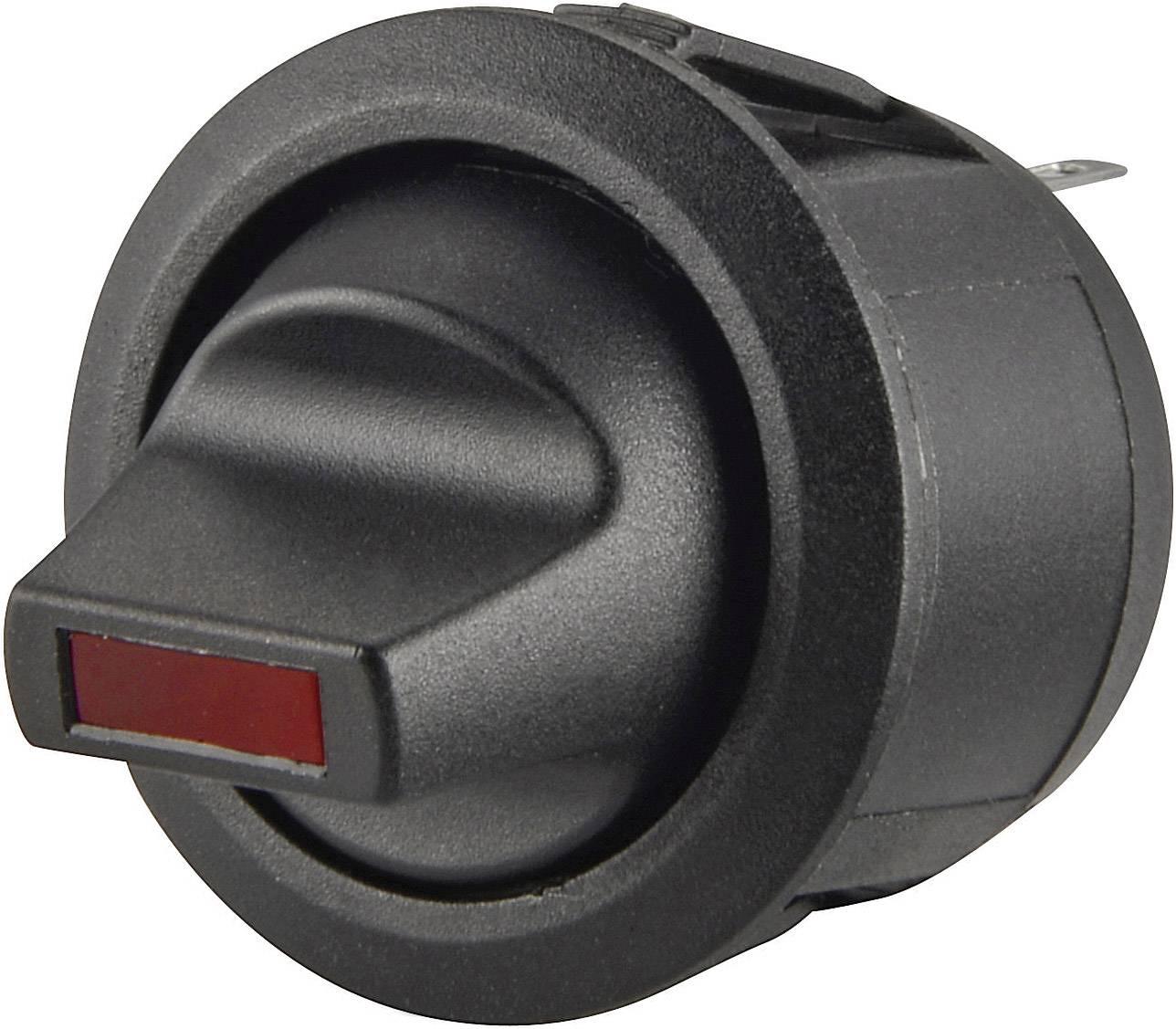Kolébkový pákový vypínačR13-112LP LED červený vyp/zap