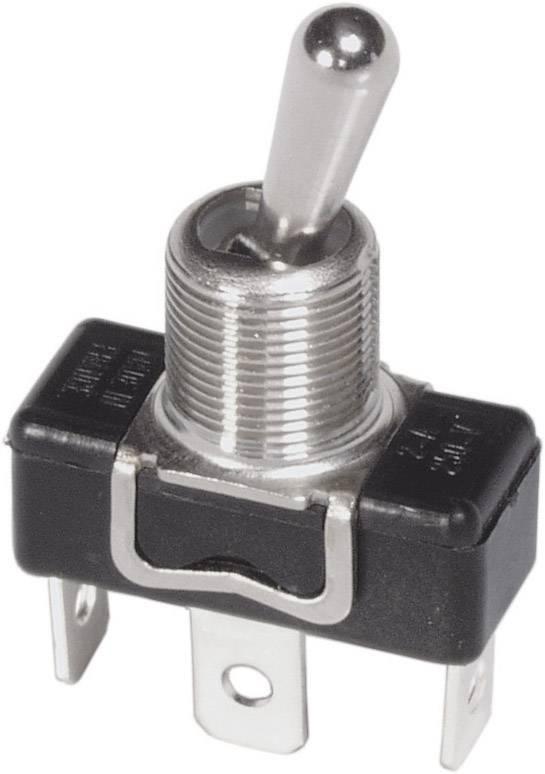 Páčkový spínač s kovovou páčkou APEM 1011 / 10110000, 250 V/AC, 3 A, 1x vyp/zap, 1 ks