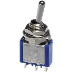 Páčkový spínač APEM 5237A / 52370003, 250 V/AC, 3 A, 1x (zap)/vyp/(zap), 1 ks