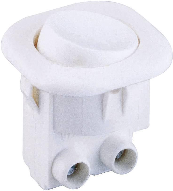Kolébkový spínač interBär 8014-108.01, 1x vyp/zap, 250 V/AC, 6 A, bílá