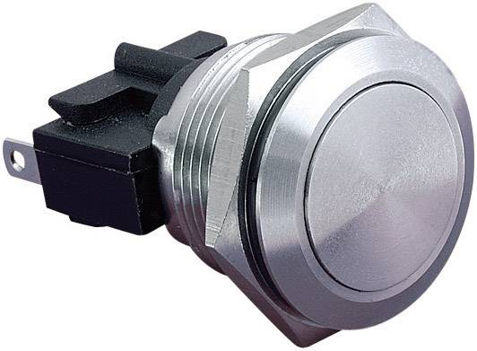 Stláčacie tlačidlo s ochranou pred vandalmi Bulgin MP0031, 250 V/AC, 5 A, nerezová oceľ, 1 ks