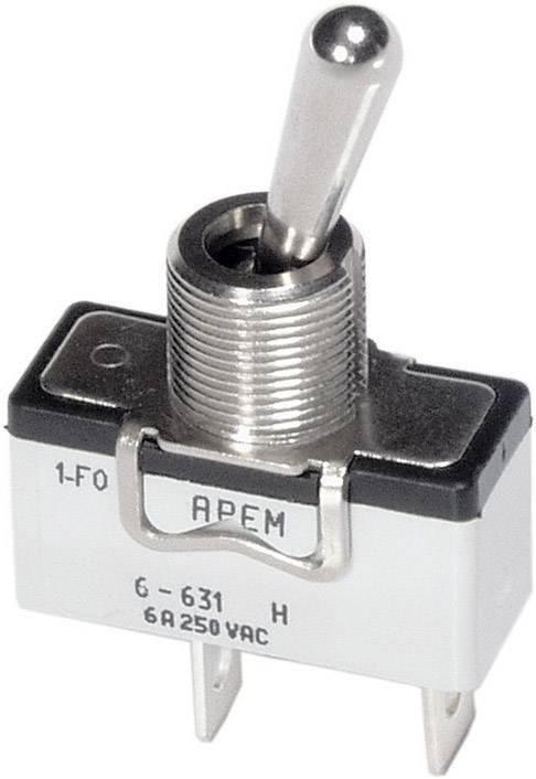Pákový spínač APEM 6-631H/2 / 6311074, 250 V/AC, 6 A, 1x vyp/zap, 1 ks