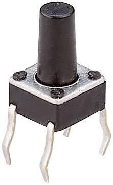 Tlačítko, T604, 24 V/DC, 0,05 A, vyp./(zap.), černá