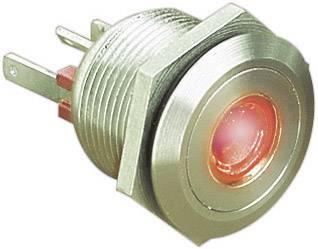 Stláčacie tlačidlo s ochranou pred vandalmi Bulgin MPI001/28/RD, 24 V/DC, 0.05 A, nerezová oceľ, 1 ks