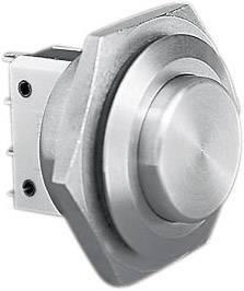 Stláčacie tlačidlo s ochranou pred vandalmi Bulgin MP0038/2, 250 V/AC, 5 A, nerezová oceľ, 1 ks